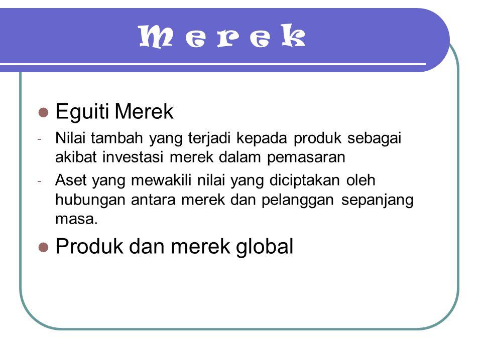 M e r e k Eguiti Merek Produk dan merek global
