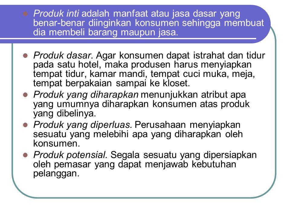 Produk inti adalah manfaat atau jasa dasar yang benar-benar diinginkan konsumen sehingga membuat dia membeli barang maupun jasa.