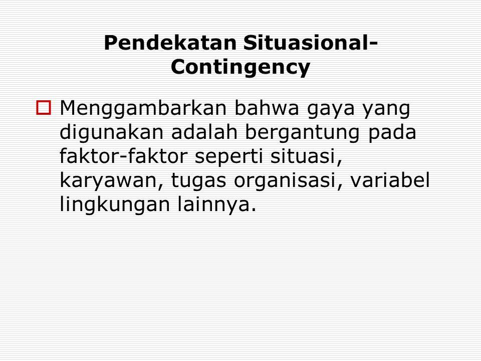 Pendekatan Situasional-Contingency