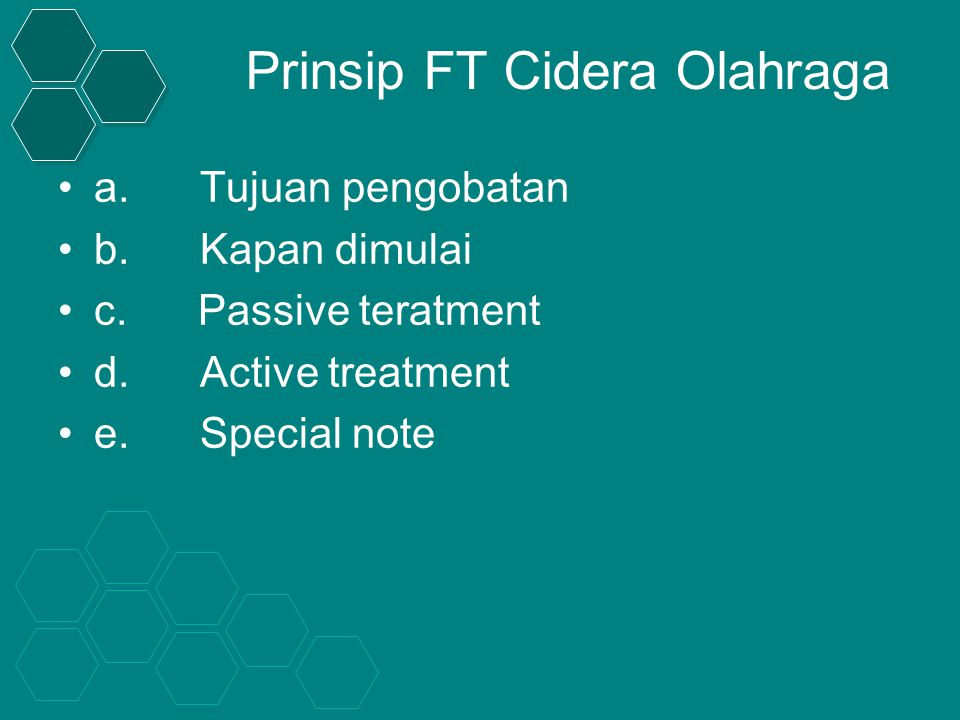 Prinsip FT Cidera Olahraga