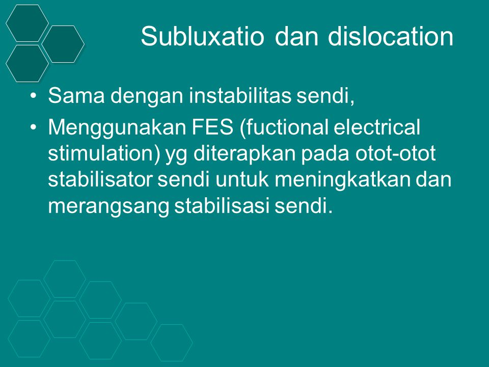 Subluxatio dan dislocation