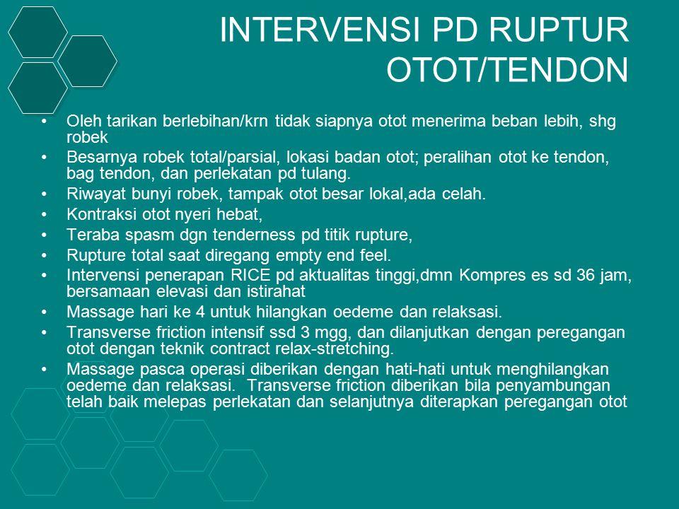 INTERVENSI PD RUPTUR OTOT/TENDON