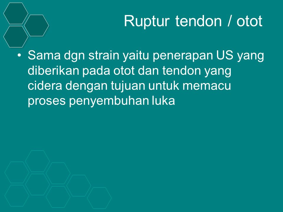 Ruptur tendon / otot