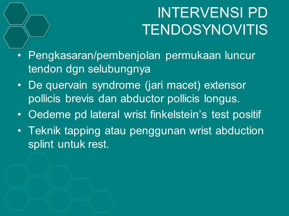 INTERVENSI PD TENDOSYNOVITIS