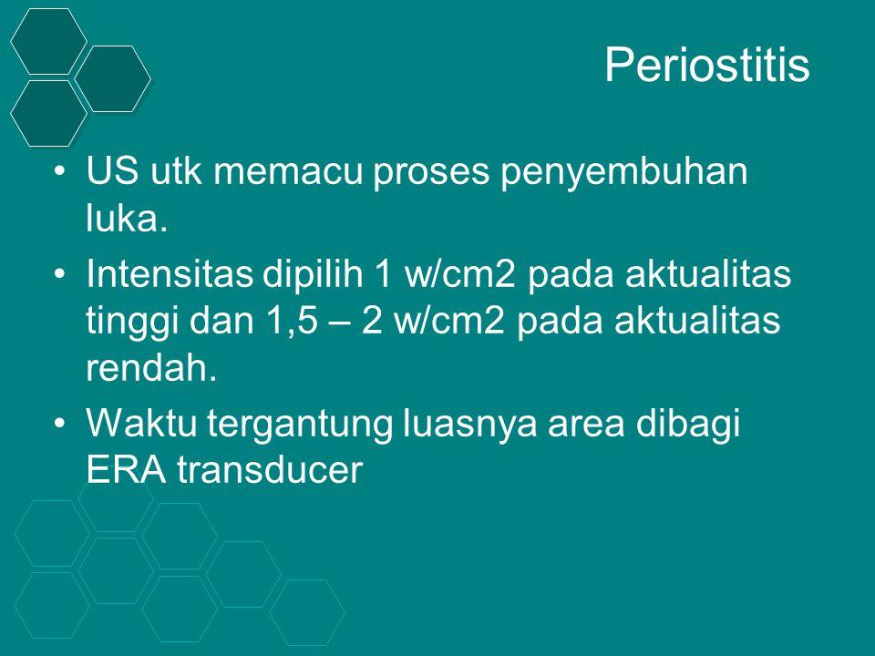 Periostitis US utk memacu proses penyembuhan luka.