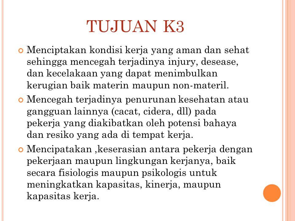 TUJUAN K3