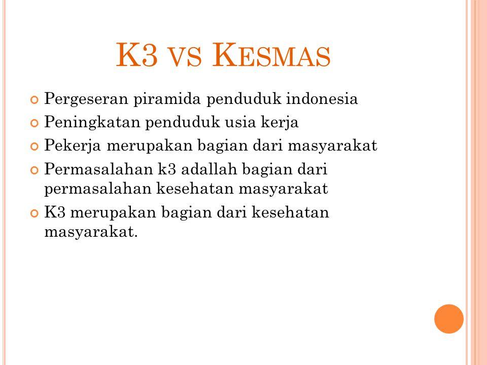 K3 vs Kesmas Pergeseran piramida penduduk indonesia