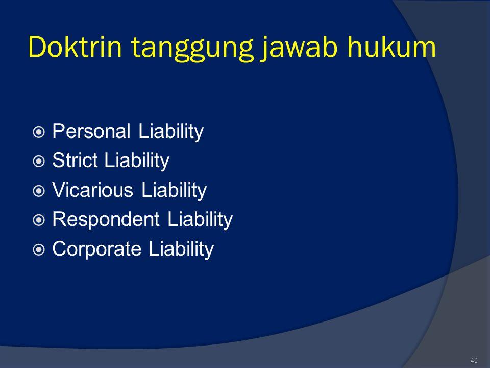 Doktrin tanggung jawab hukum