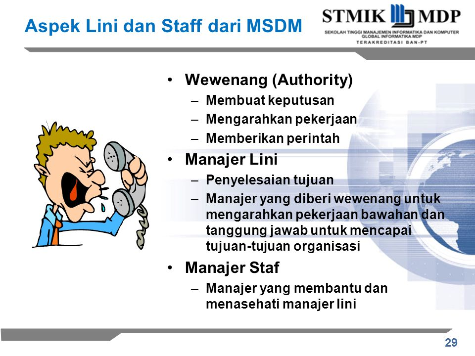Aspek Lini dan Staff dari MSDM