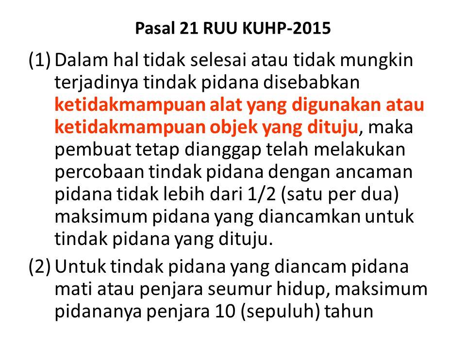 Pasal 21 RUU KUHP-2015