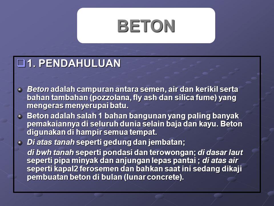 BETON 1. PENDAHULUAN.