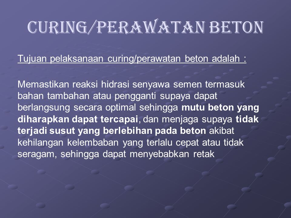 Curing/Perawatan Beton