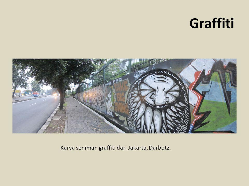 Karya seniman graffiti dari Jakarta, Darbotz.