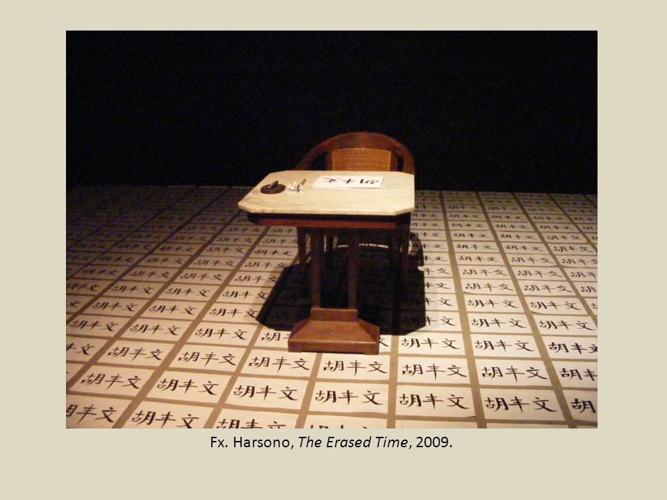 Fx. Harsono, The Erased Time, 2009.