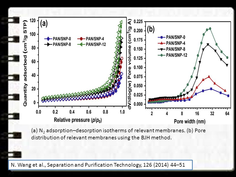 (a) N2 adsorption–desorption isotherms of relevant membranes