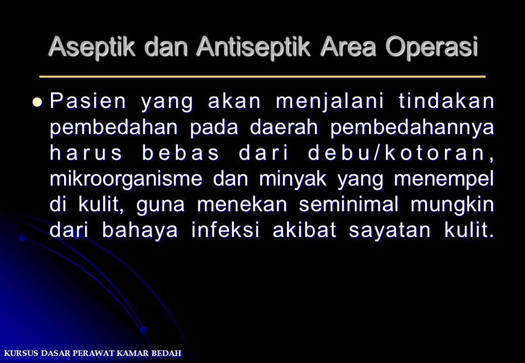 Aseptik dan Antiseptik Area Operasi