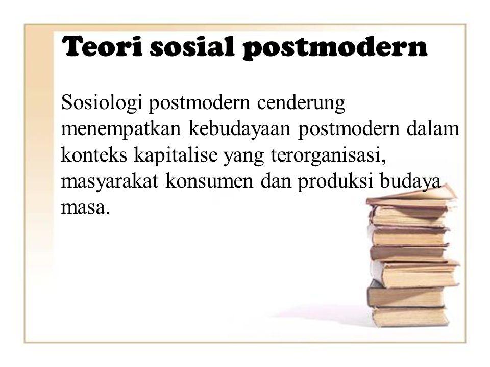 Teori sosial postmodern