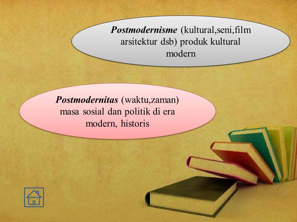 Postmodernisme (kultural,seni,film arsitektur dsb) produk kultural modern