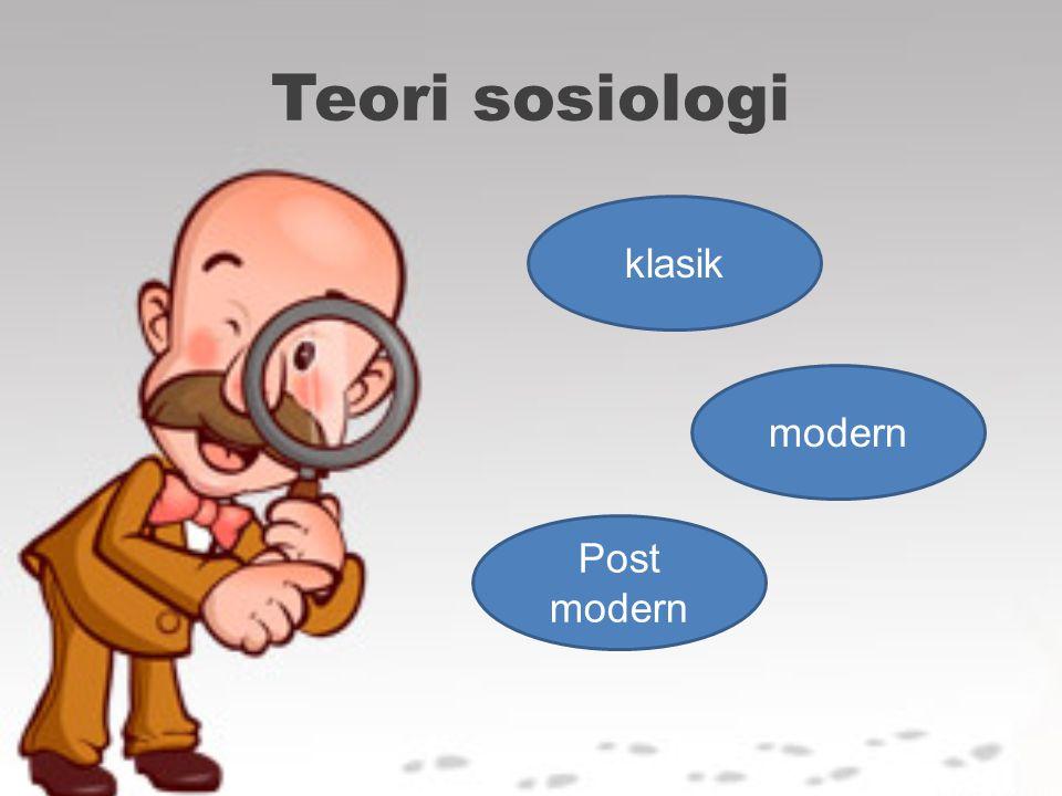 Teori sosiologi klasik modern Post modern