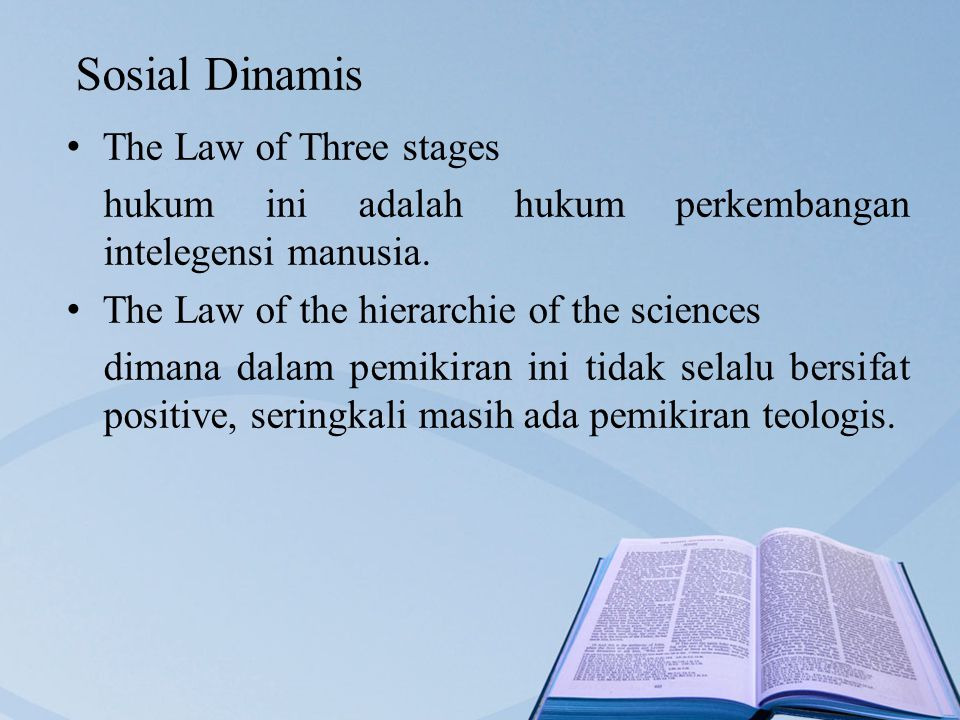 Sosial Dinamis The Law of Three stages