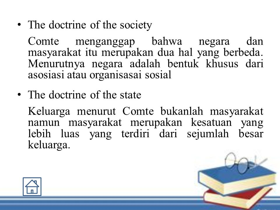 The doctrine of the society