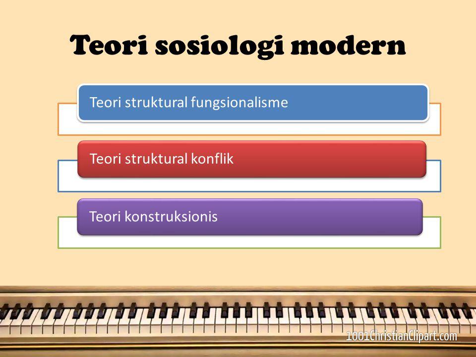Teori sosiologi modern