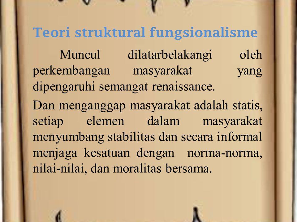 Teori struktural fungsionalisme