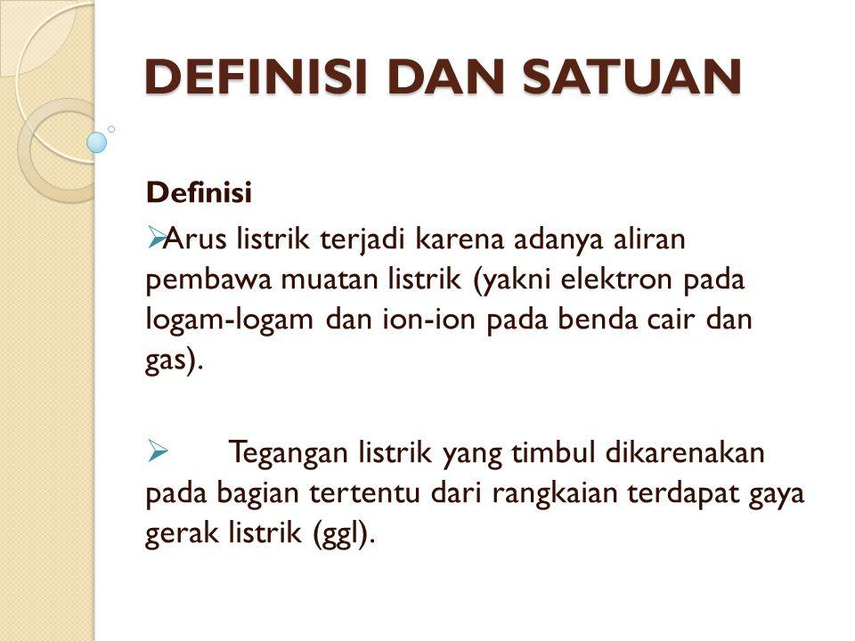 DEFINISI DAN SATUAN Definisi.