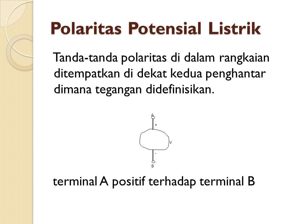 Polaritas Potensial Listrik