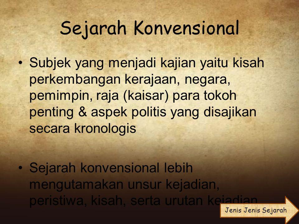 Sejarah Konvensional