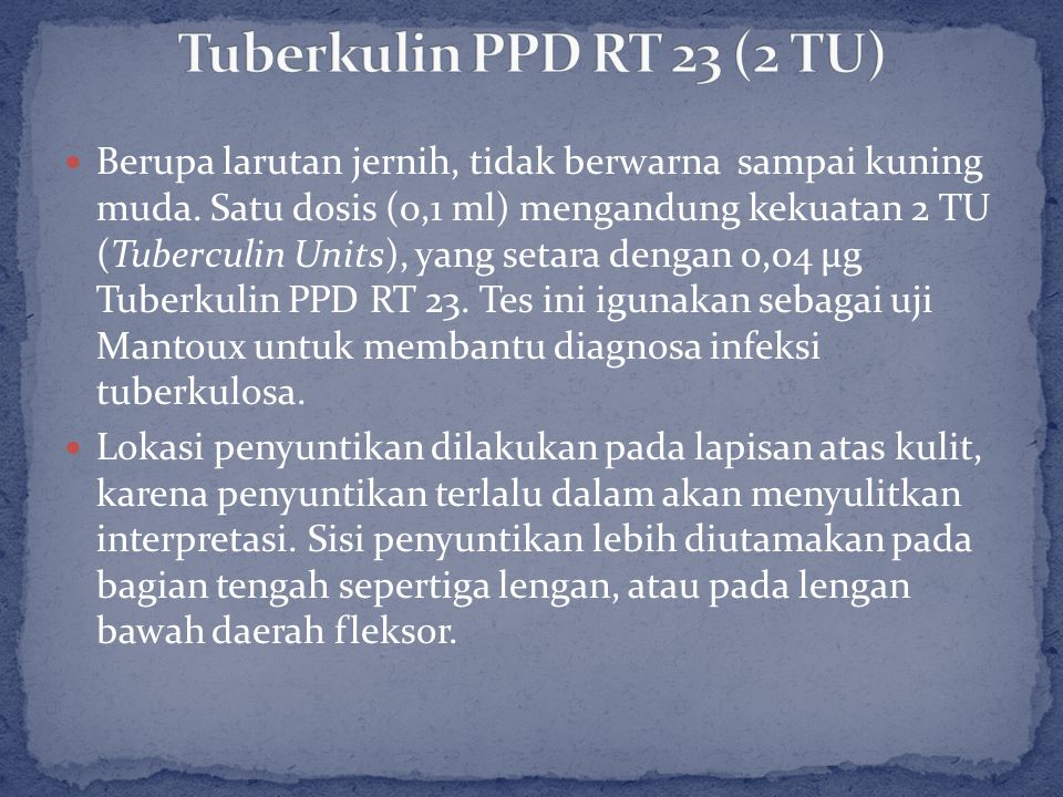 Tuberkulin PPD RT 23 (2 TU)