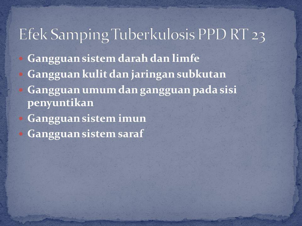 Efek Samping Tuberkulosis PPD RT 23