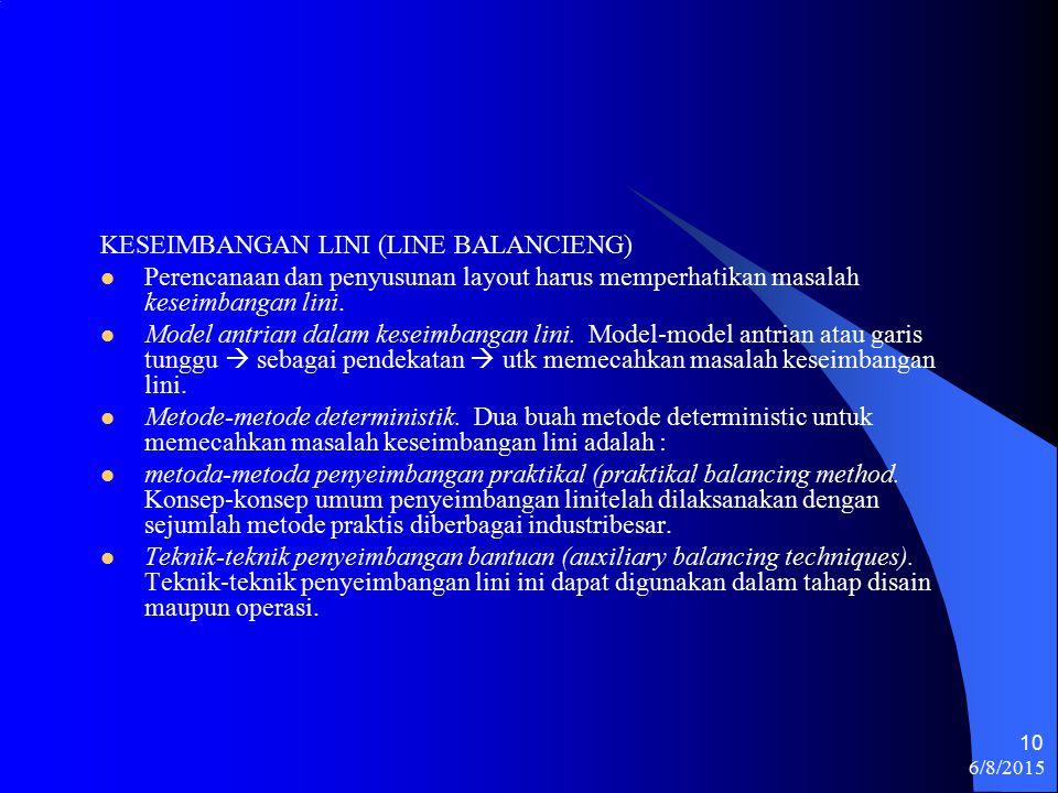 KESEIMBANGAN LINI (LINE BALANCIENG)