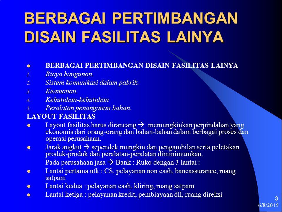 BERBAGAI PERTIMBANGAN DISAIN FASILITAS LAINYA