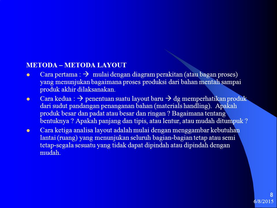METODA – METODA LAYOUT