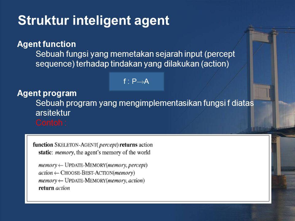 Struktur inteligent agent