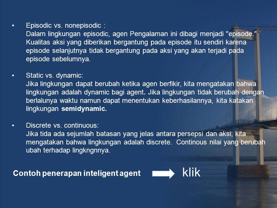 Contoh penerapan inteligent agent
