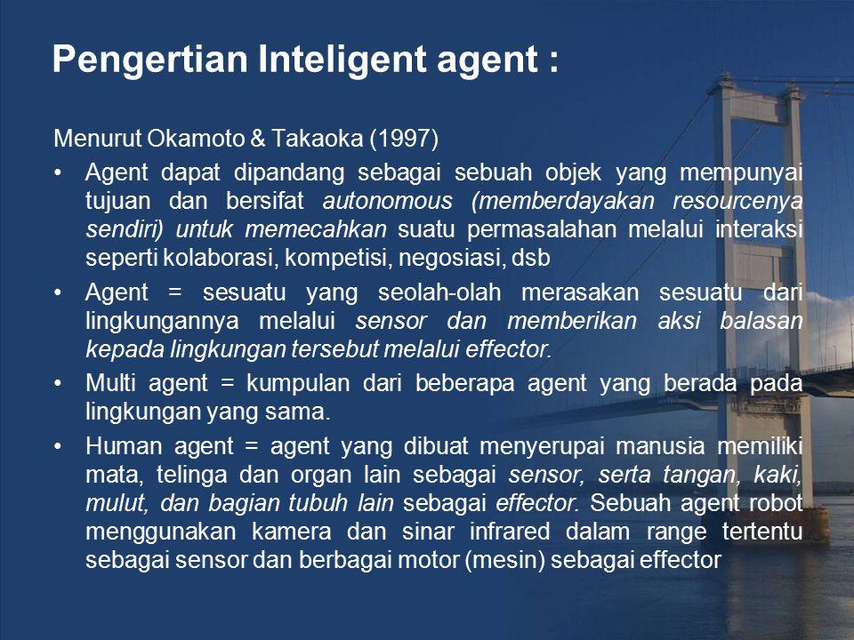 Pengertian Inteligent agent :