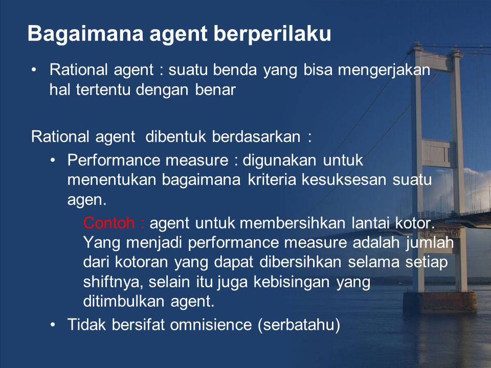 Bagaimana agent berperilaku