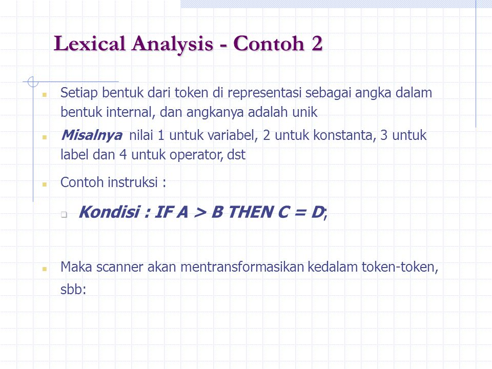 Lexical Analysis - Contoh 2