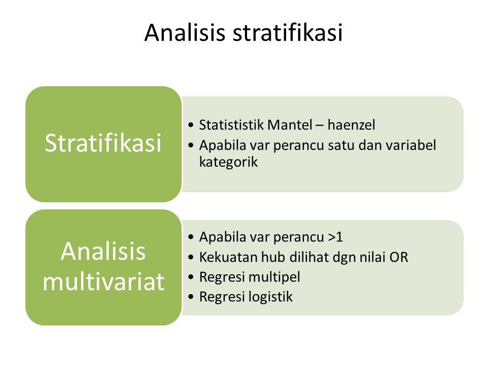 Analisis stratifikasi