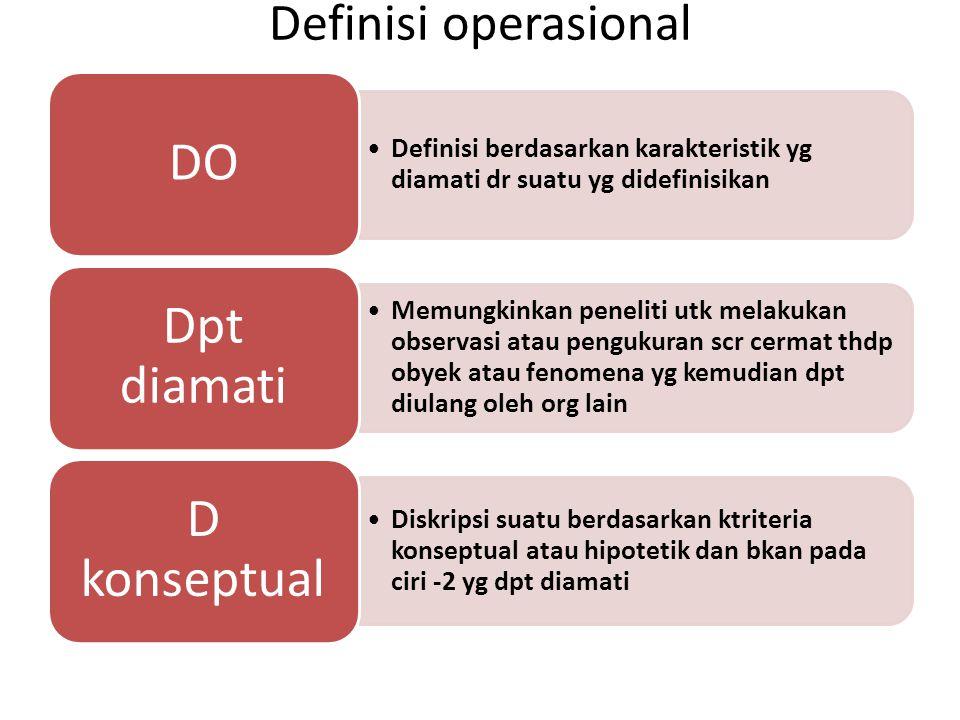 Definisi operasional DO