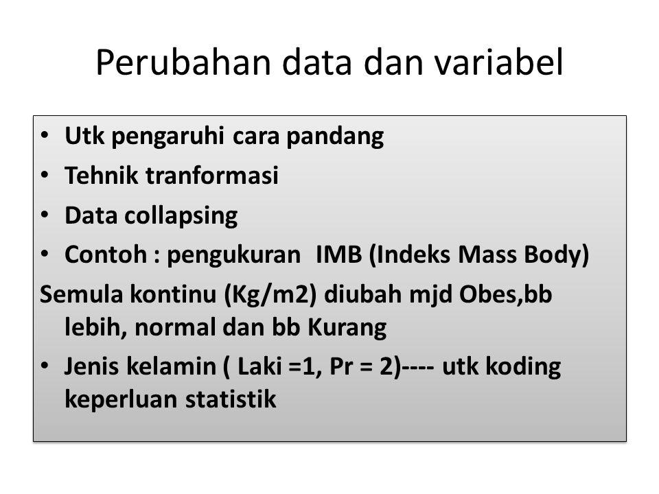 Perubahan data dan variabel