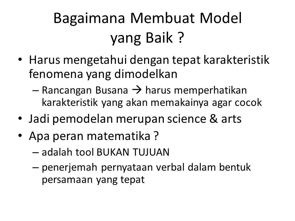 Bagaimana Membuat Model yang Baik