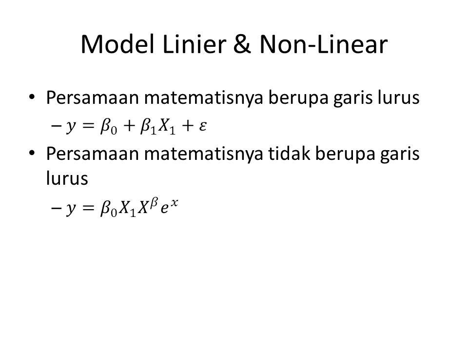 Model Linier & Non-Linear