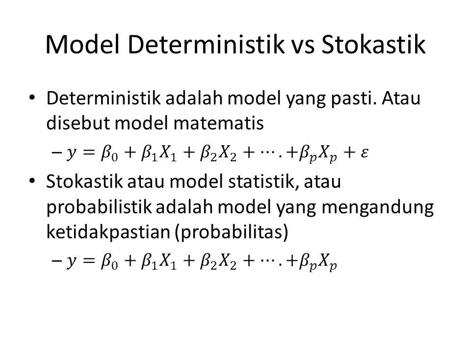 Model Deterministik vs Stokastik