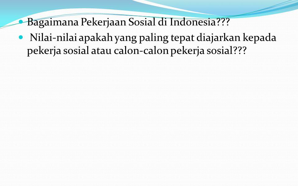 Bagaimana Pekerjaan Sosial di Indonesia