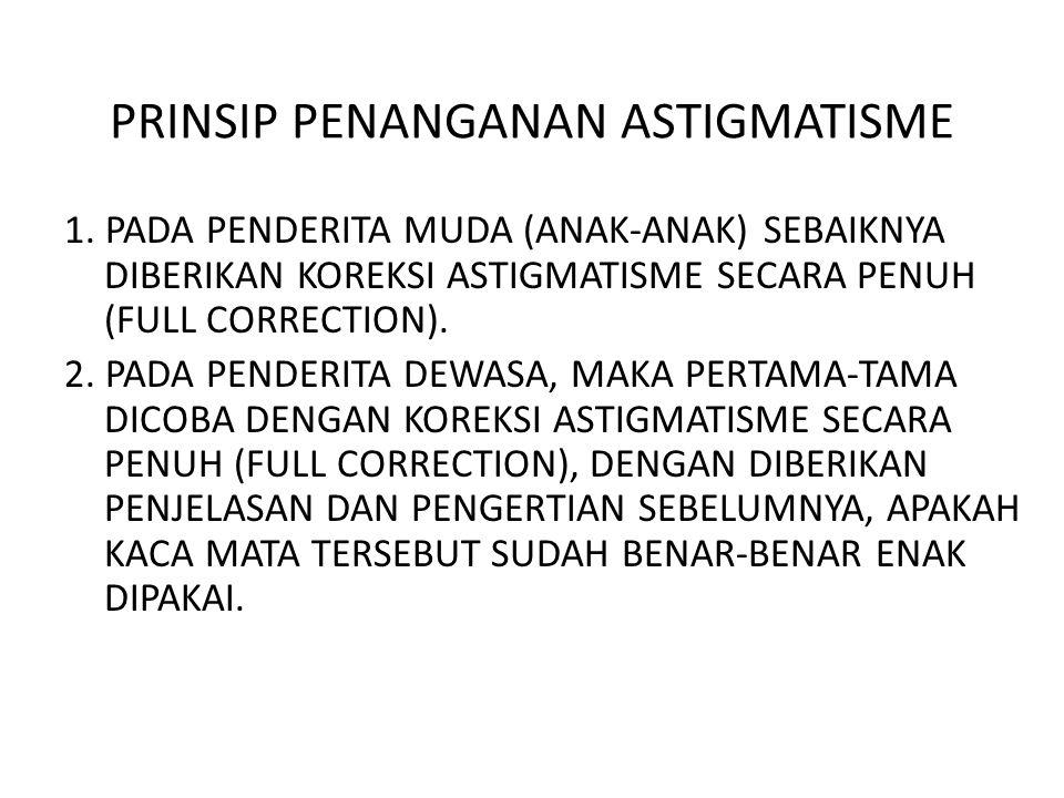 PRINSIP PENANGANAN ASTIGMATISME