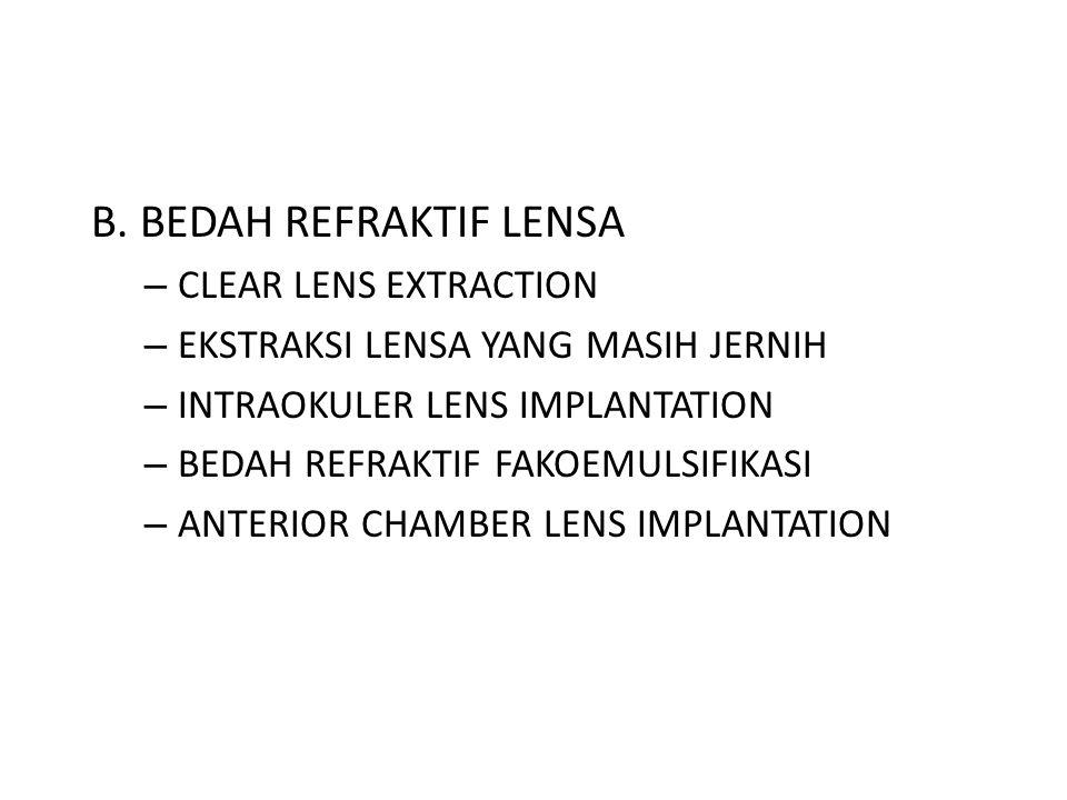 B. BEDAH REFRAKTIF LENSA