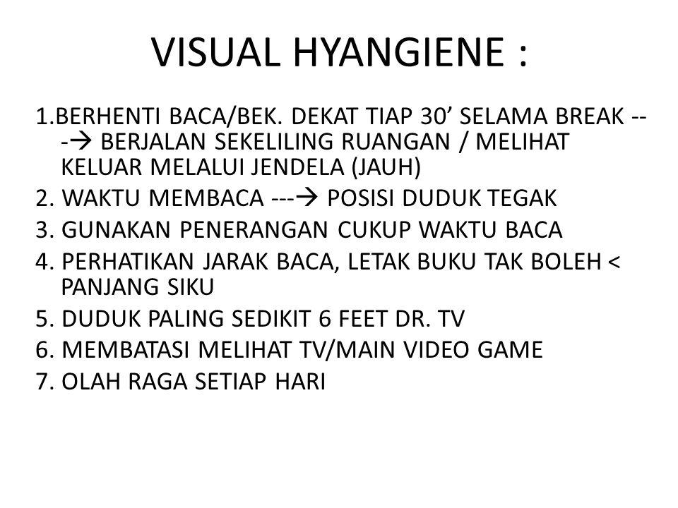 VISUAL HYANGIENE :